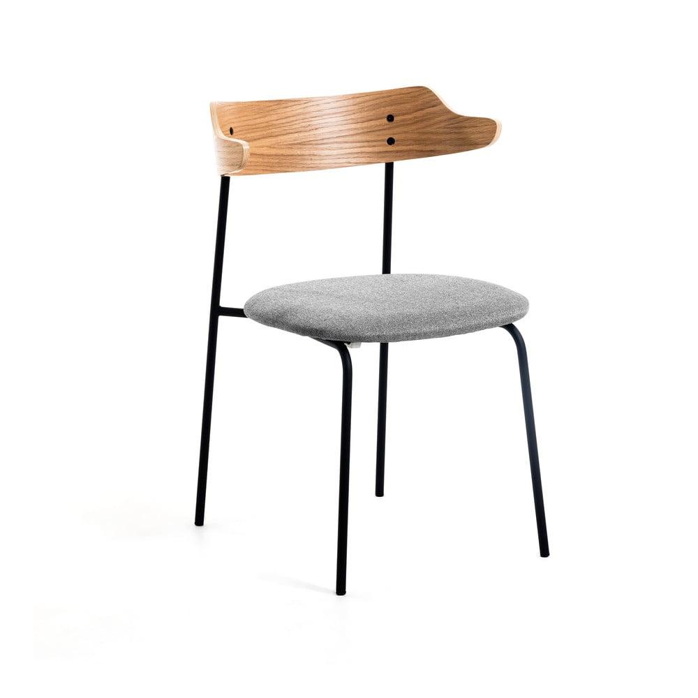 Jasnoszare krzesło do jadalni La Forma Olympia