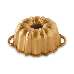 Mała forma do babki w złotej barwie Nordic Ware Anniversary, 1,4 l