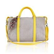 Skórzana torebka Iris Big, żółta
