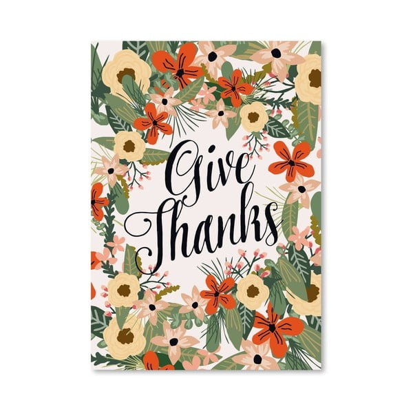Plakat (projekt: Mia Charro) - Give Thanks no. 1