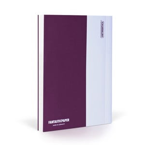 Notes FANTASTICPAPER A5 Aubergine/White, gładki