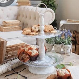 Patera dwupoziomowa Cake Antique White