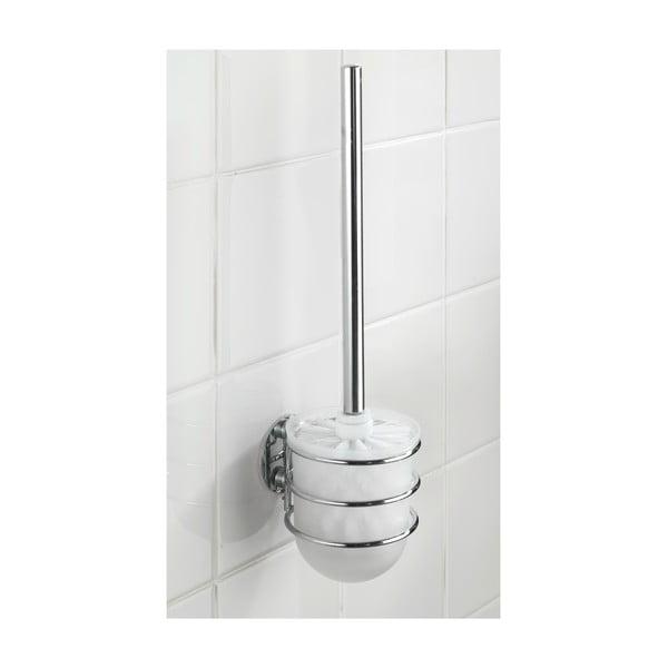 Samoprzyczepny stojak ze szczotką do WC Turbo, do 40 kg