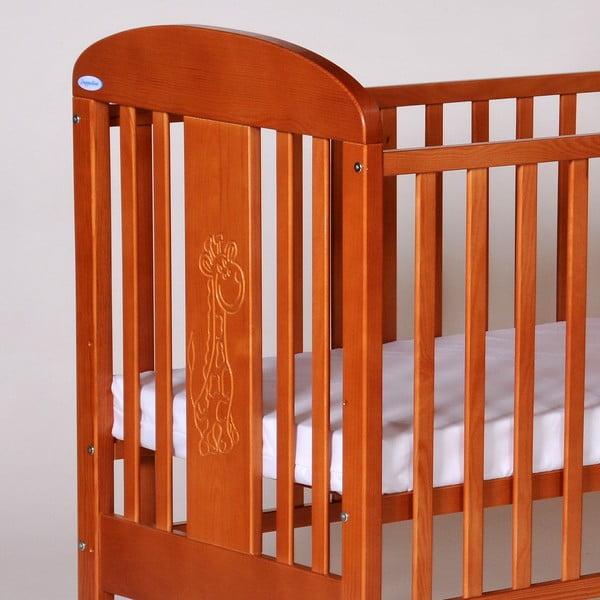 Łóżeczko dziecięce z bokami na stałe Olina, olcha