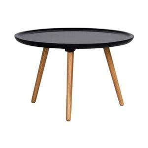 Czarny stolik z drewna dębowego Folke Dellingr, ⌀ 55cm