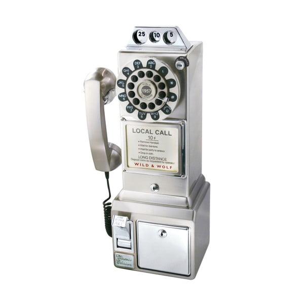 Telefon stacjonarny w stylu retro Chrome Dinner