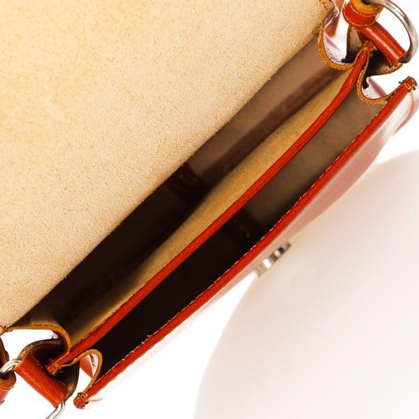 Koniakowo-brązowa torebka skórzana Federica Bass Kaus