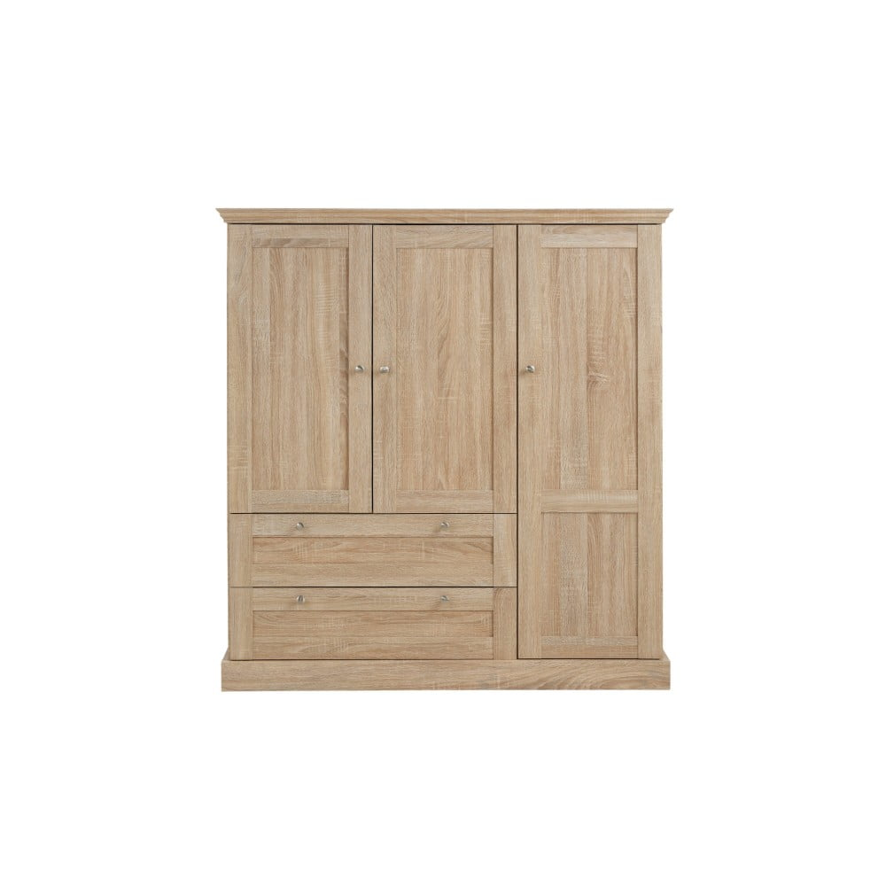 Szafa 3-drzwiowa z dębowym dekorem Støraa Bruce