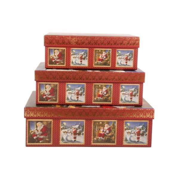 Zestaw 3 pudełek Santa