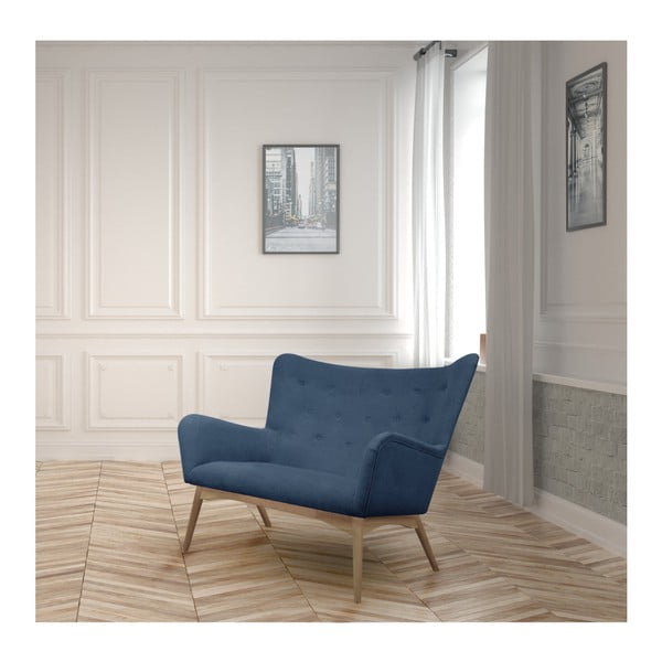 Niebieska sofa 2-osobowa Helga Interiors Karl