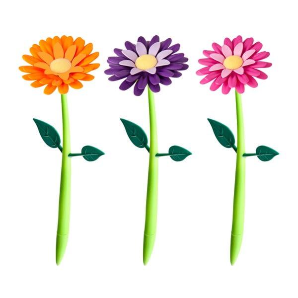 Zestaw 5 długopisów ze stojakiem Vigar Floral