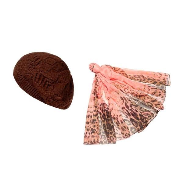 Czapka i chusta Pink Chocolate