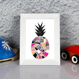 Obraz w ramie Dekorjinal Pouff Surreal Pink Peanapple, 23x17cm