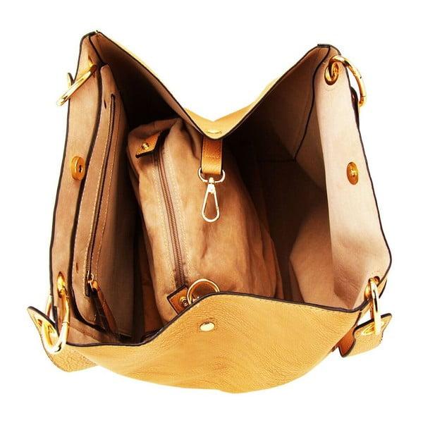 Skórzana torebka Siona Taupe