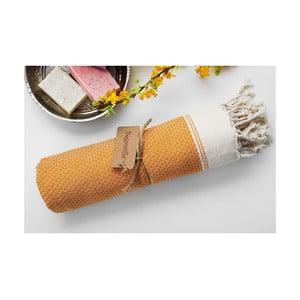Ręcznik hammam Jacquard Orange, 100x180 cm