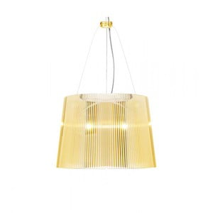 Lampa wisząca Kartell GÉ Crystal, żółta