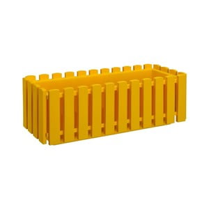 Żółta doniczka z systemem nawadniania Gardenico Fency Smart System, dł. 75 cm
