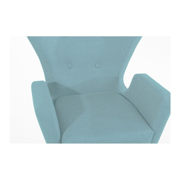 Jasnoniebieski fotel Max Winzer Maurizio