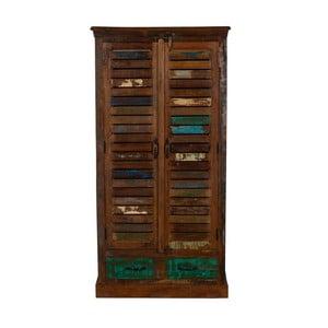 Szafka z drewna z recyklingu Woodking Colour
