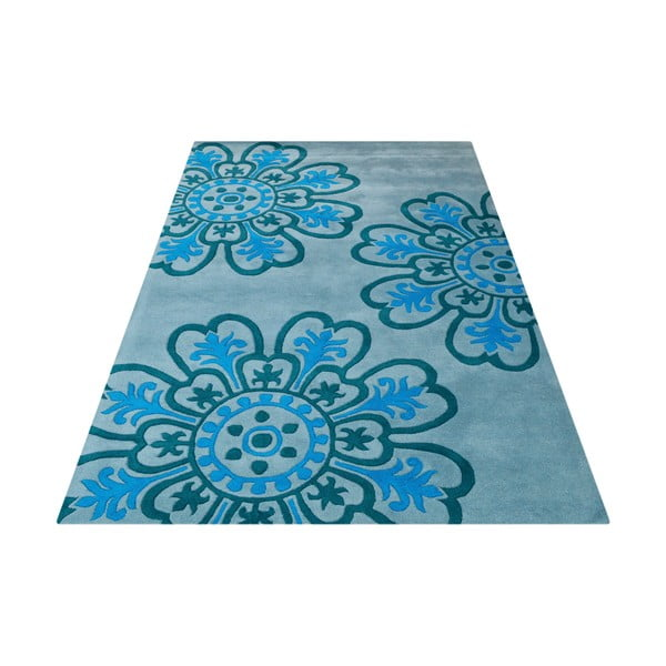 Dywan Floral Light Blue, 153x244 cm