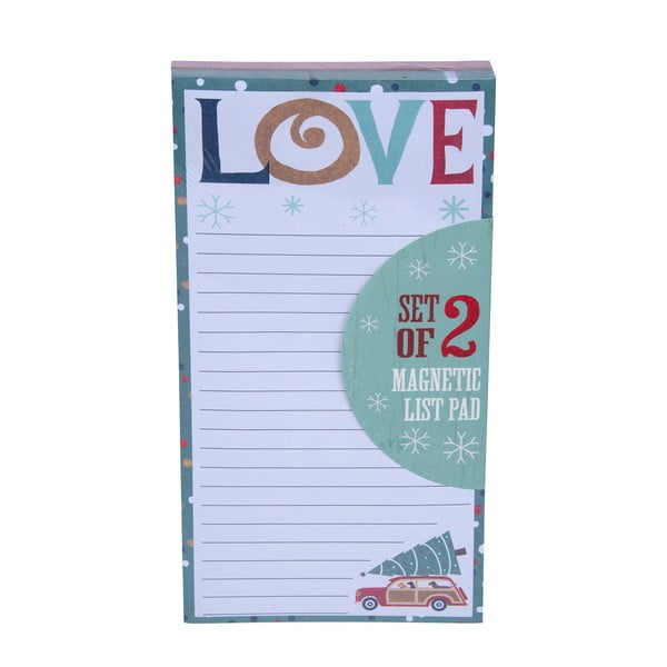 Zestaw 2 bloczków Tri-Coastal Design Christmas List Love Peace