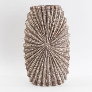 Ceramiczny wazon, beżowy/brązowy, 30 cm