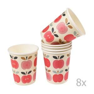 Zestaw 8 kubków papierowych Rex London Vintage Apple