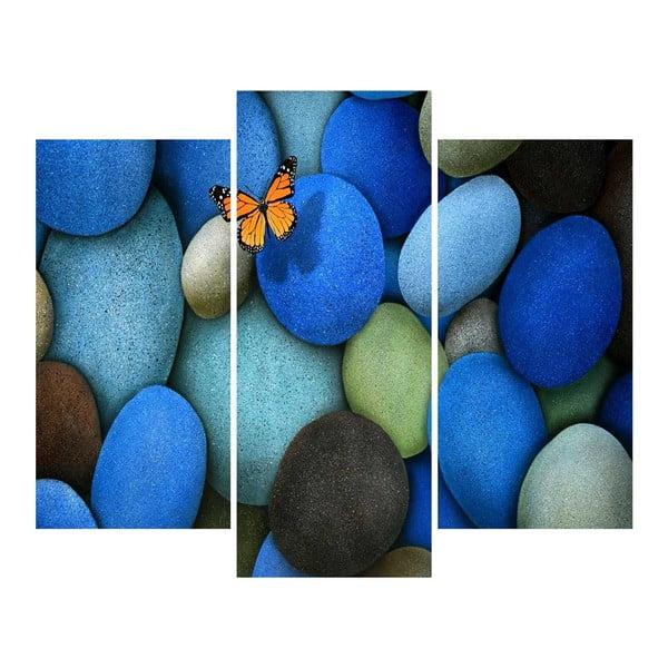 Trzyczęściowy obraz Stones