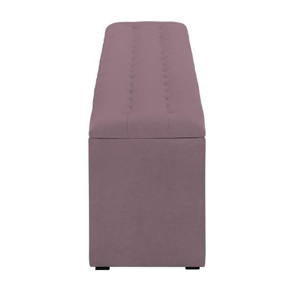 Fioletowa ławka tapicerowana ze schowkiem Windsor & Co Sofas Nova, 140x47 cm