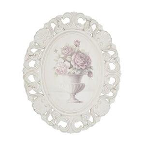 Drewniany obraz w ramie Pink Roses, 44x54 cm