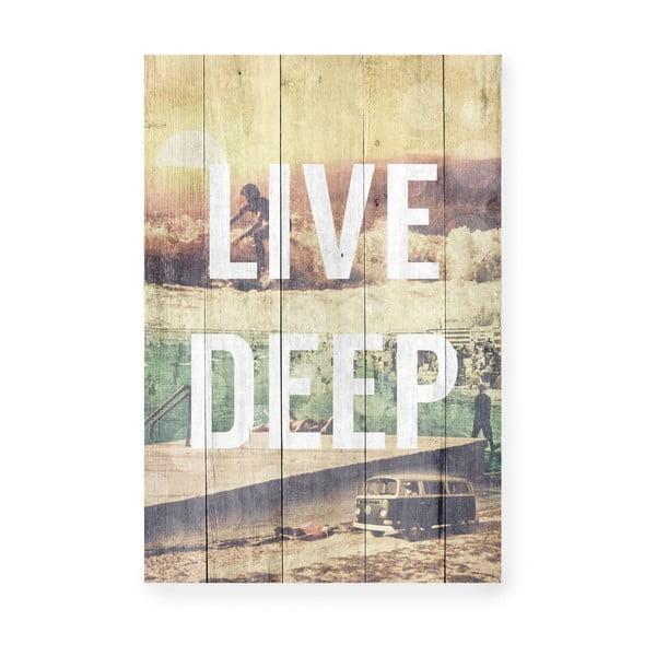 Drewniana tablica Live Deep