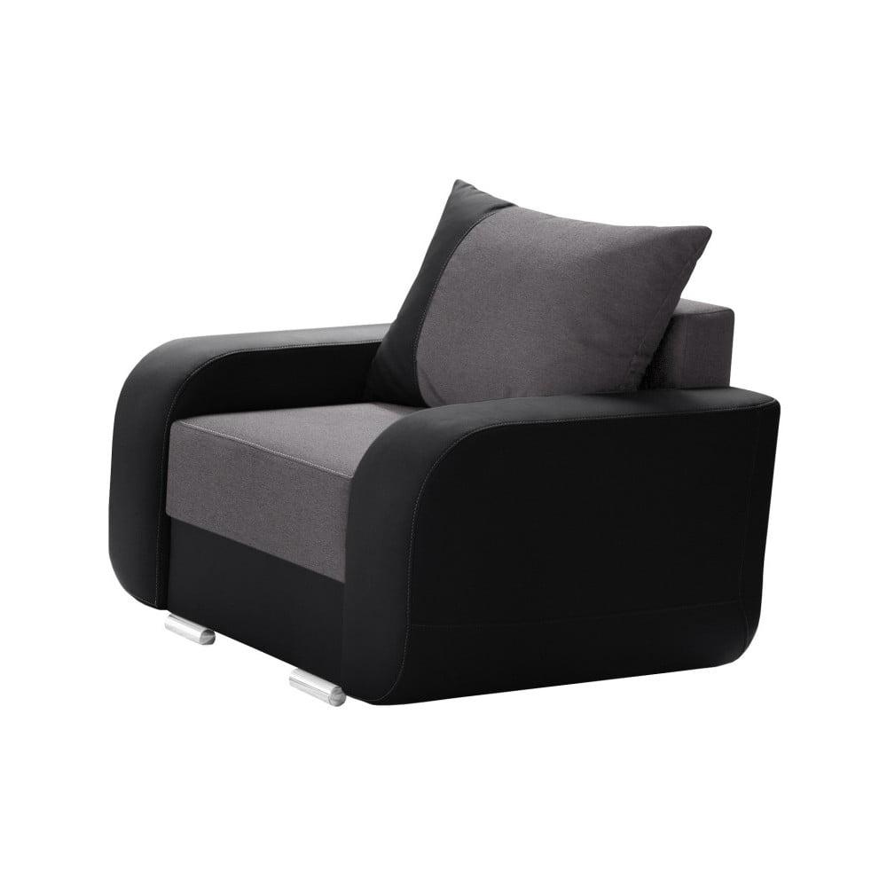 czarno szary fotel interieur de famille paris destin bonami. Black Bedroom Furniture Sets. Home Design Ideas