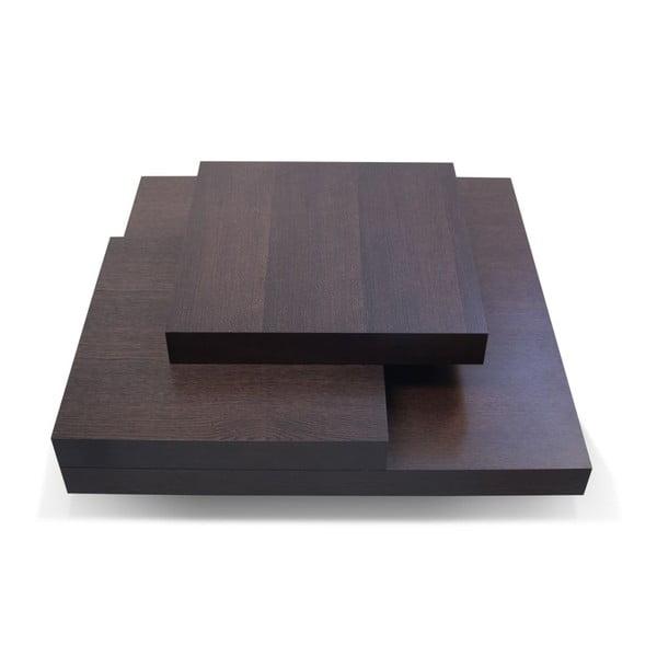 Stolik w kolorze ciemnego drewna dębowego TemaHome Slate