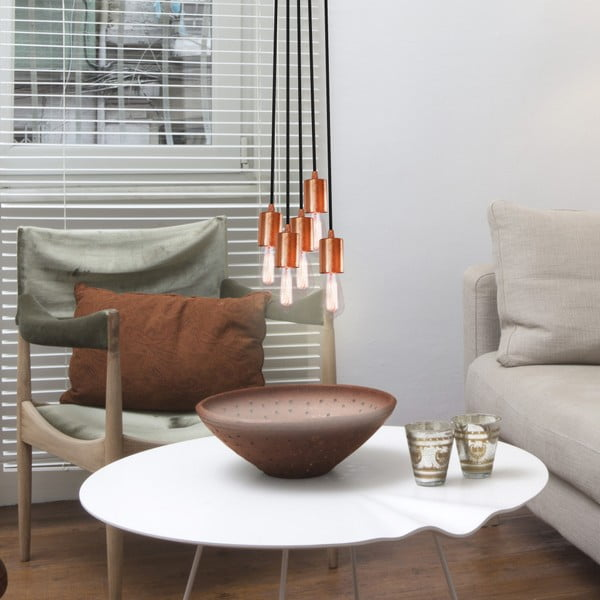 Biało-srebrna potrójna lampa wisząca Bulb Attack