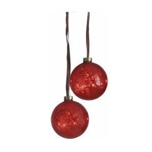 Zestaw świecących bombek Vesta Duo Red, 10 cm, 2 szt.