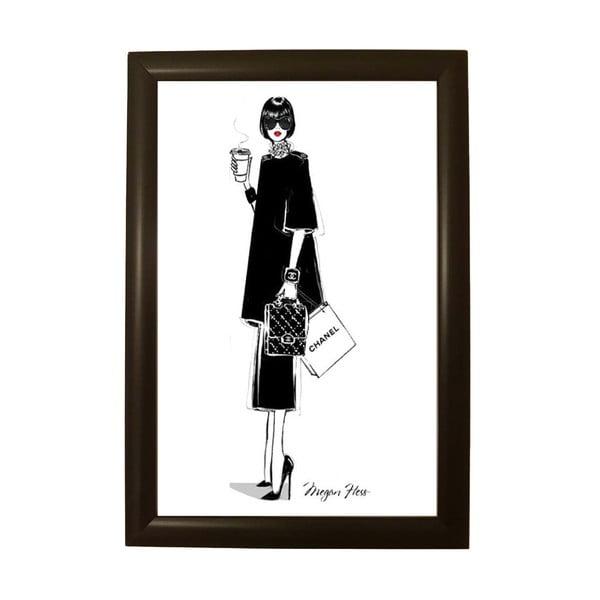 Plakat w czarnej ramie Piacenza Art Chanel