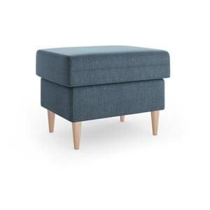 Niebieski puf Mazzini Sofas Aubrieta, 60x45 cm