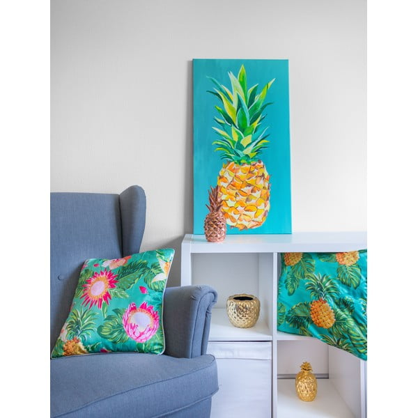 Obraz Pineapple Blue, 50x90 cm