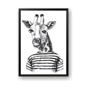 Plakat Nord & Co Hipster Giraffe, 21x29 cm