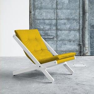 Fotel składany Karup Boogie White/Amarillo