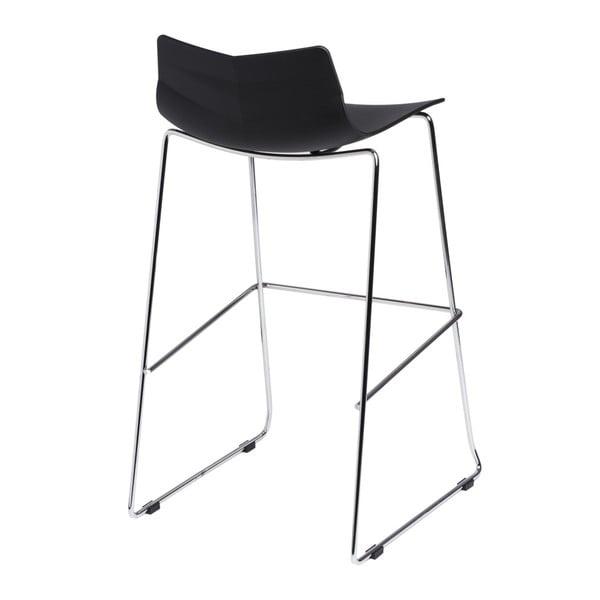 Krzesło barowe D2 Leaf, czarne