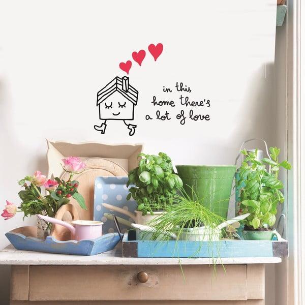 Naklejka In This Home, 41x57 cm
