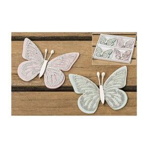 Zestaw 8 dekoracji Boltze Butterfly