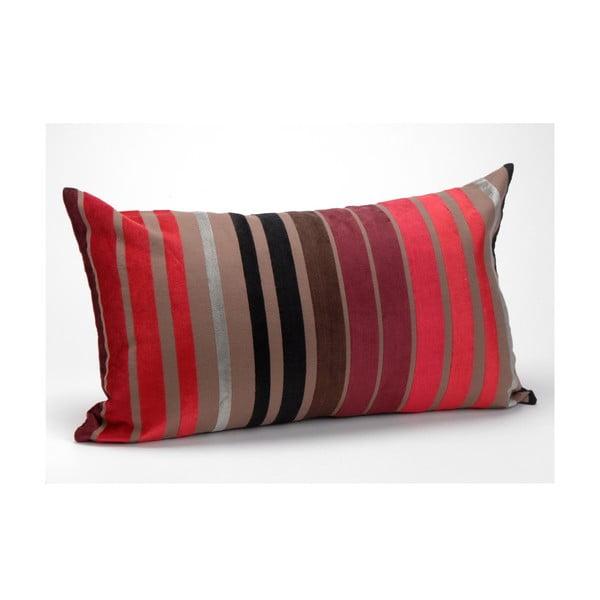 Poduszka z wypełnieniem Plum Stripes, 30x50 cm