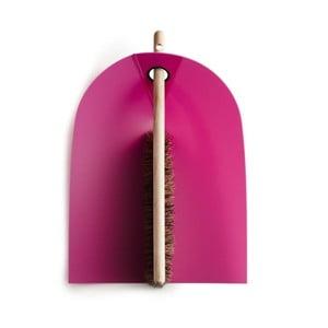 Zmiotka i szczotka z naturalnym włosiem Broom, różowa