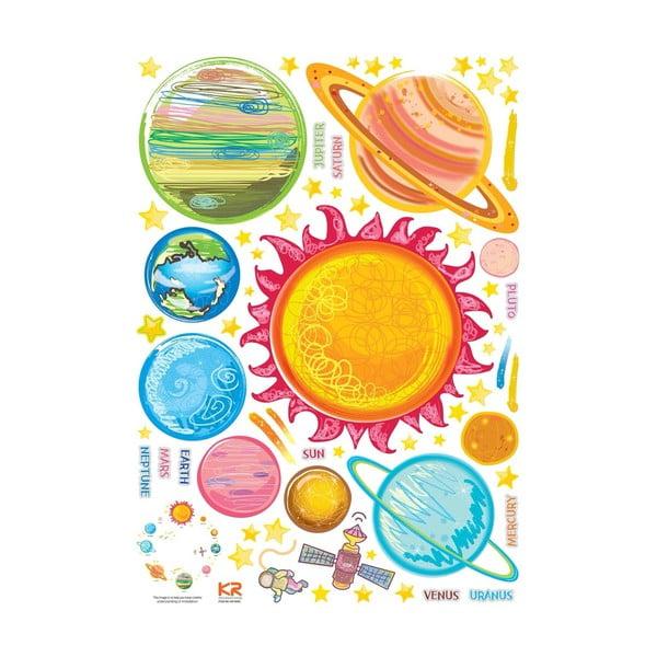 Zestaw naklejek Ambiance Solar System Planets