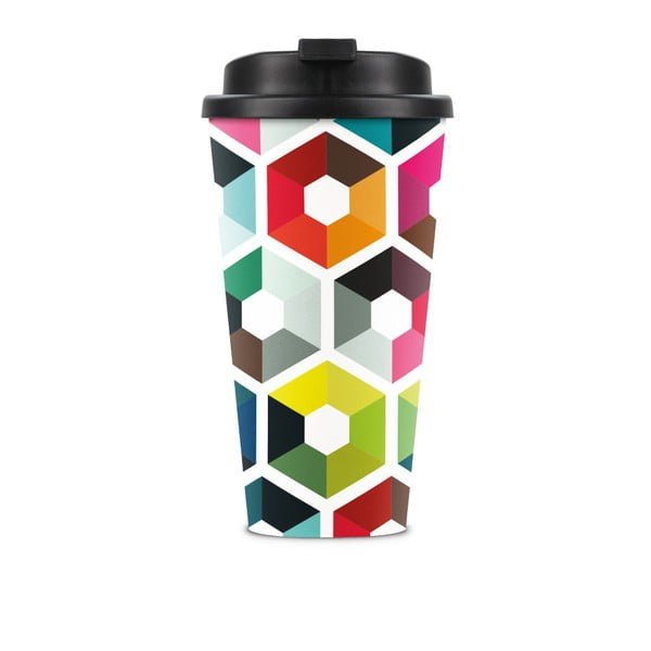 Kubek podróżny Remember Hexagon, 450 ml