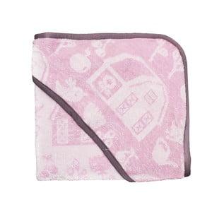 Różowo-fioletowy ręcznik kąpielowy z kapturem Sebra Farm Girl Hooded Towel