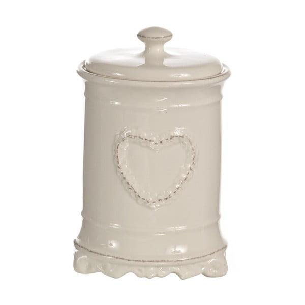 Okrągły pojemnik z sercem Barattolo, 18 cm
