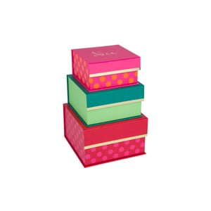 Zestaw 3 szt. pudełek Tri-Coastal Merry Bright Nice